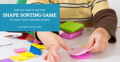 Find out how to use this shape sorting game to teach toddlers shapes