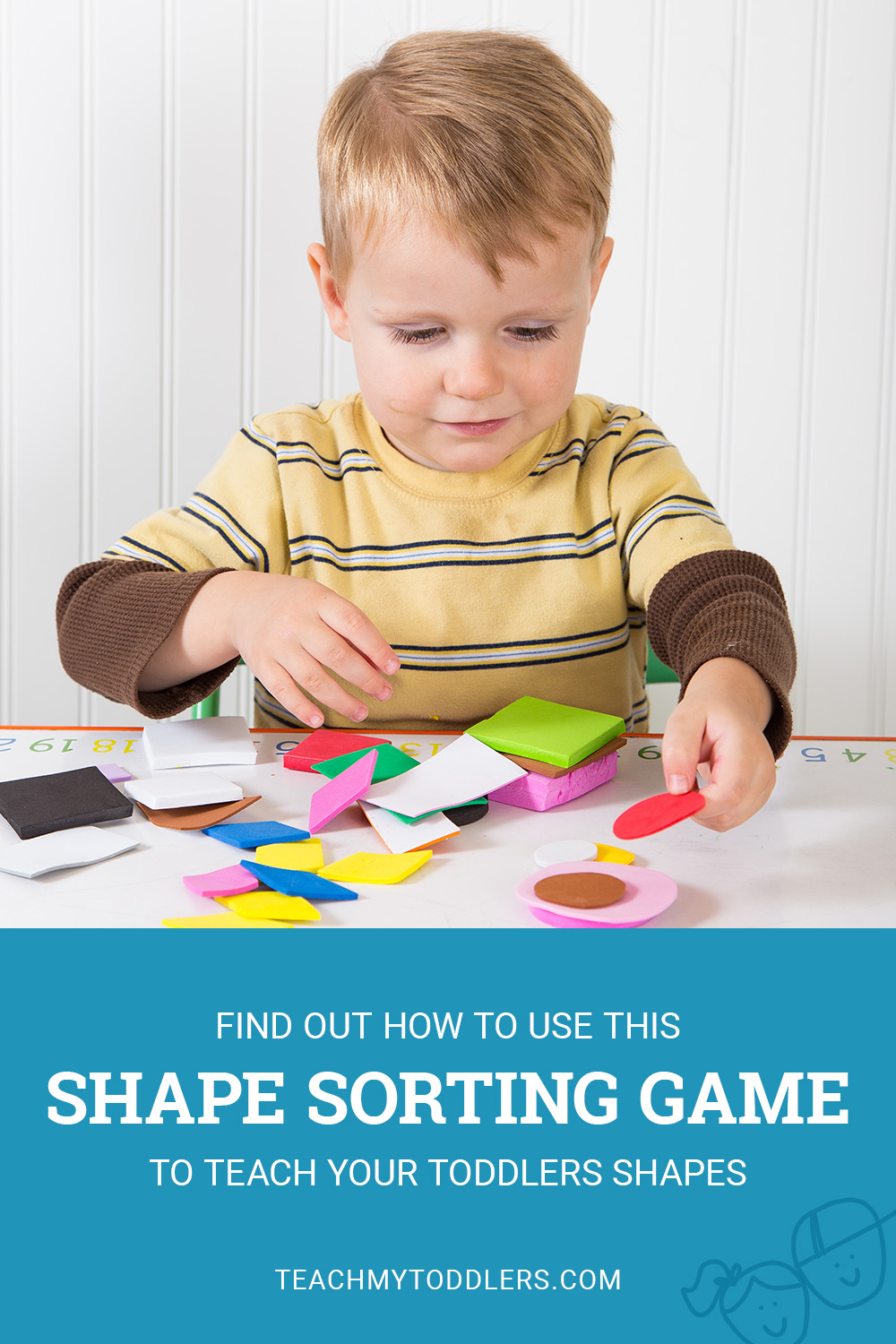 Find out how to use this shape sorting game to teach your toddlers shapes