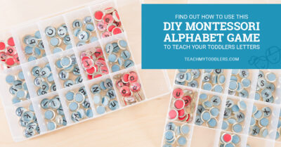 Find out how to use this diy montessori alphabet game to teach toddlers letters