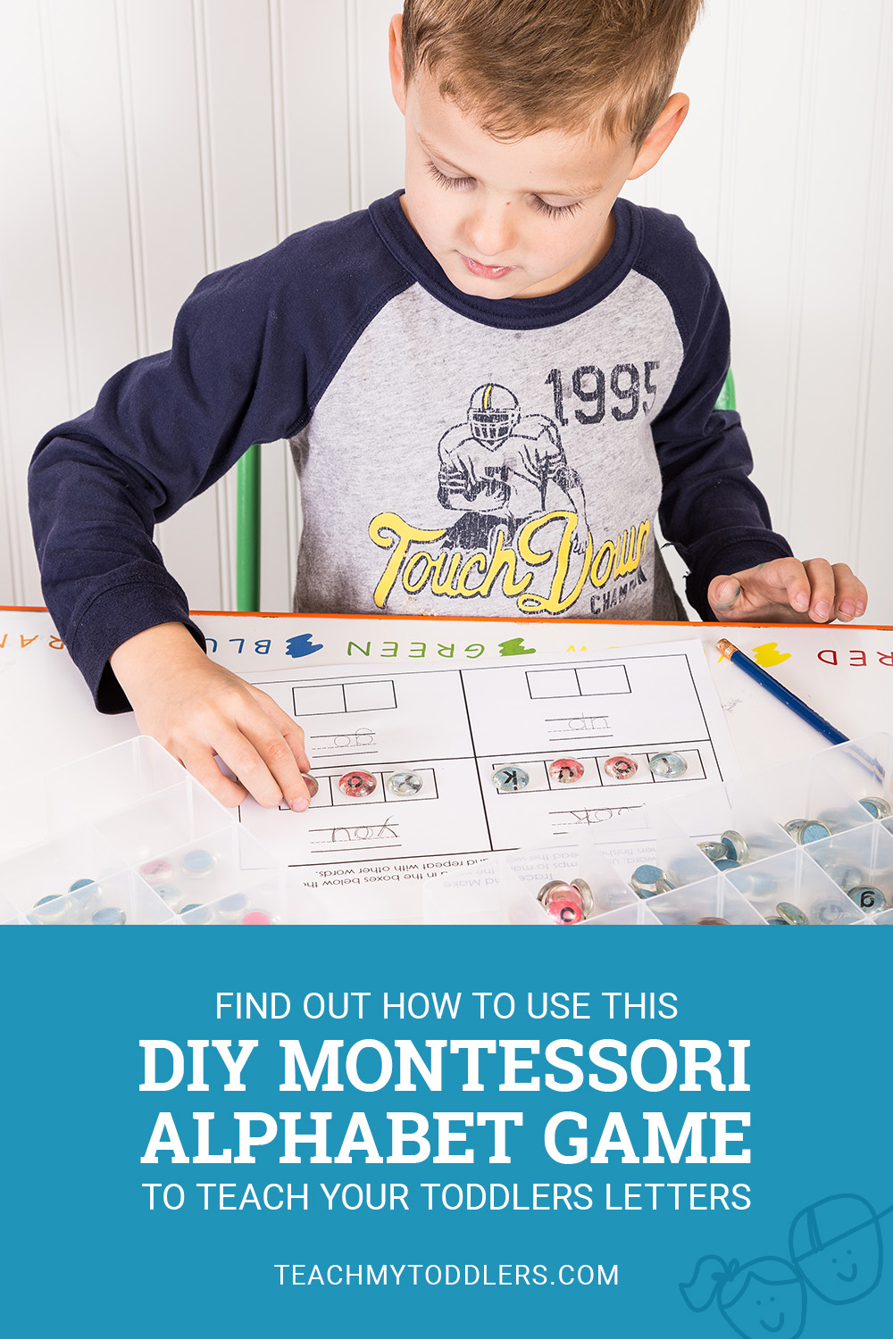 Find out how to use this diy montessori alphabet game to teach your toddlers letters