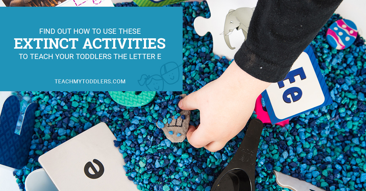 Find out how to use these e is for extinct activites to teach toddlers the letter e