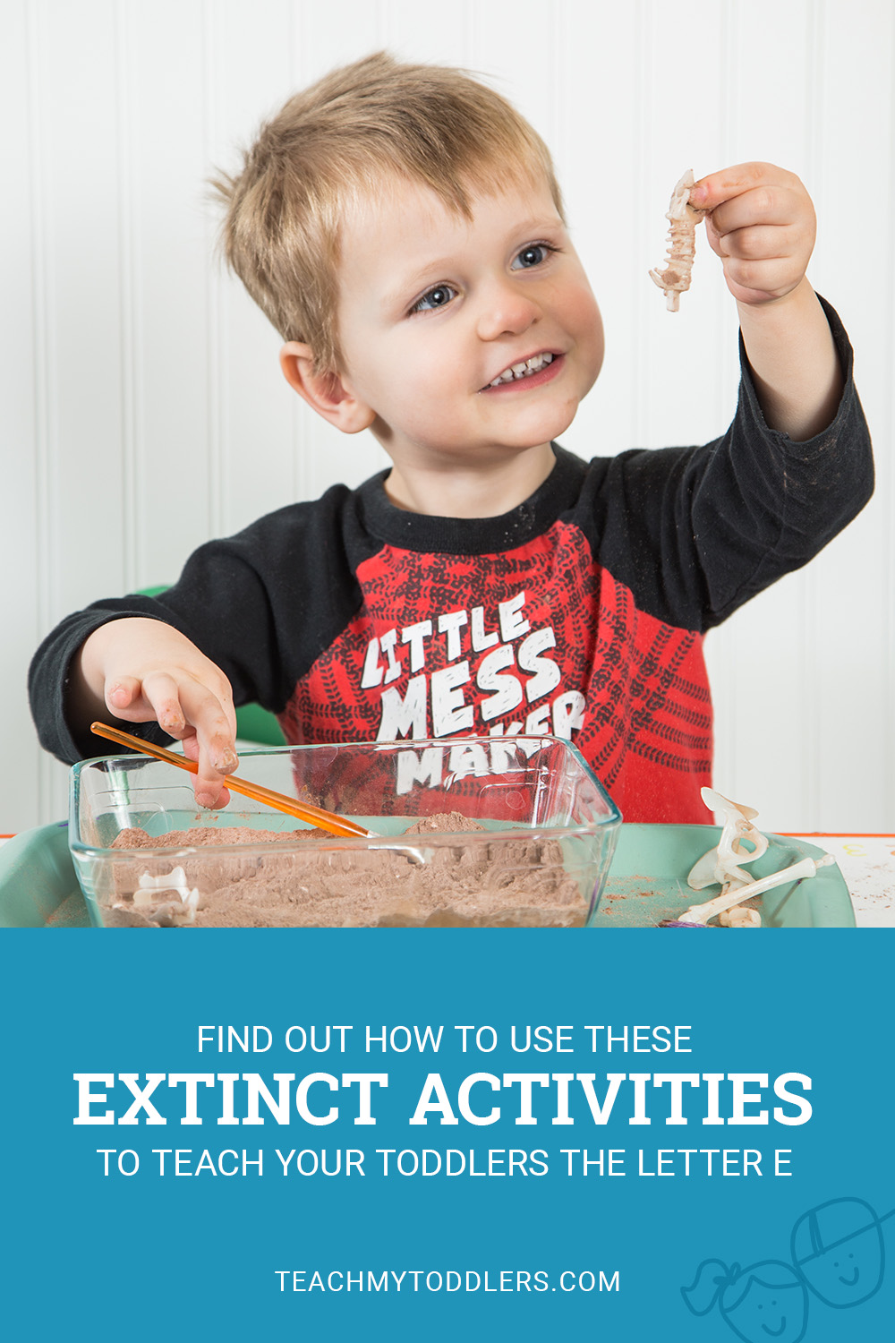 Find out how to use these e is for extinct activites to teach your toddlers the letter e