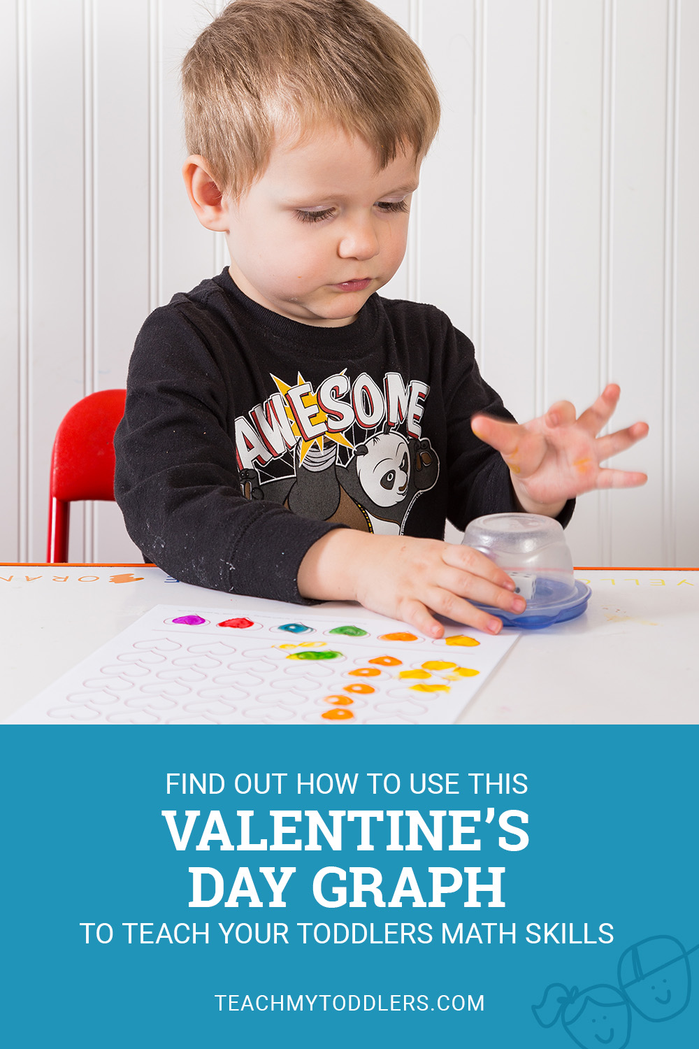 Find out how to use this valentine's day graph to teach your toddlers math skills