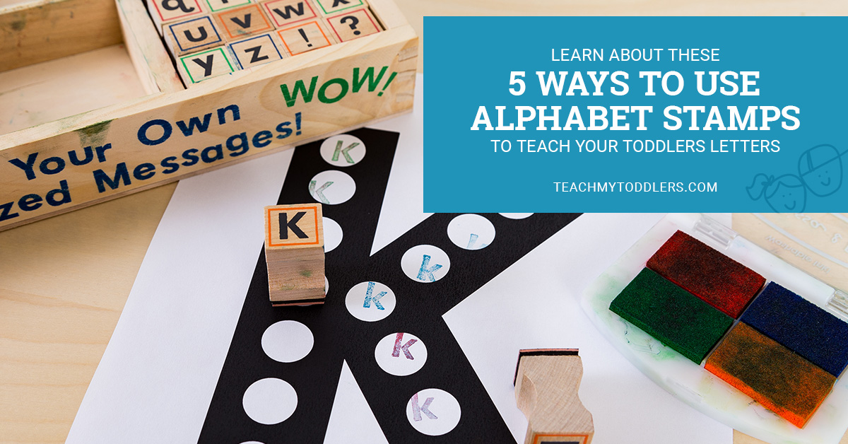 Learn about these 5 ways to use alphabet stamps to teach your toddlers letters
