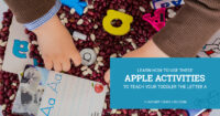 Learn how to use these a is for apples activities to teach toddlers the letter a