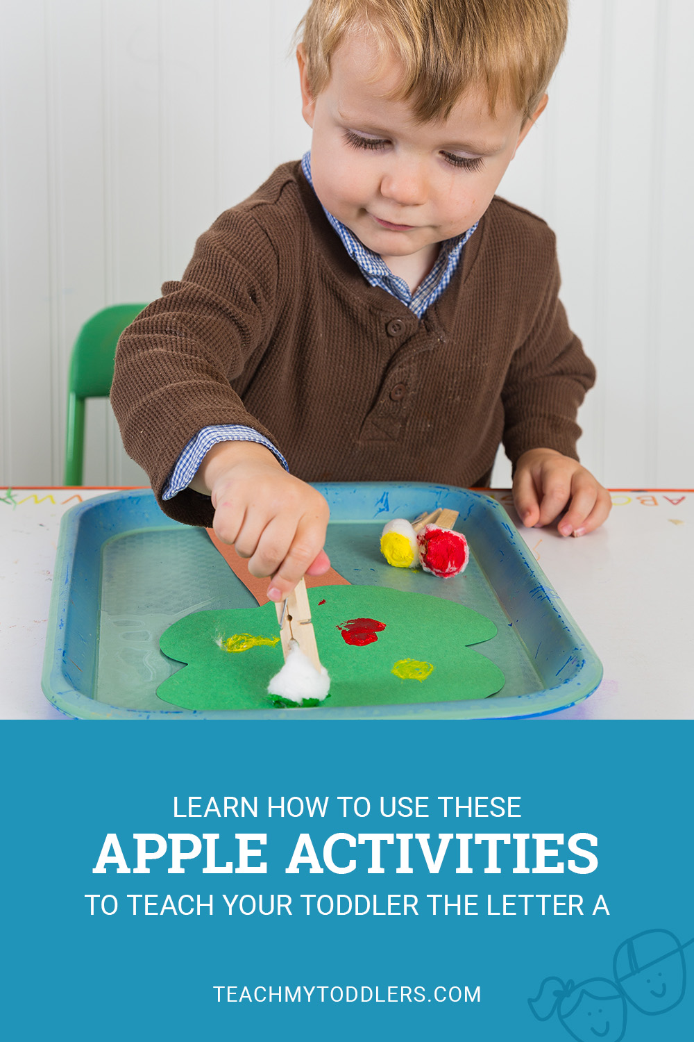 Learn how to use these a is for apples activities to teach your toddlers the letter a