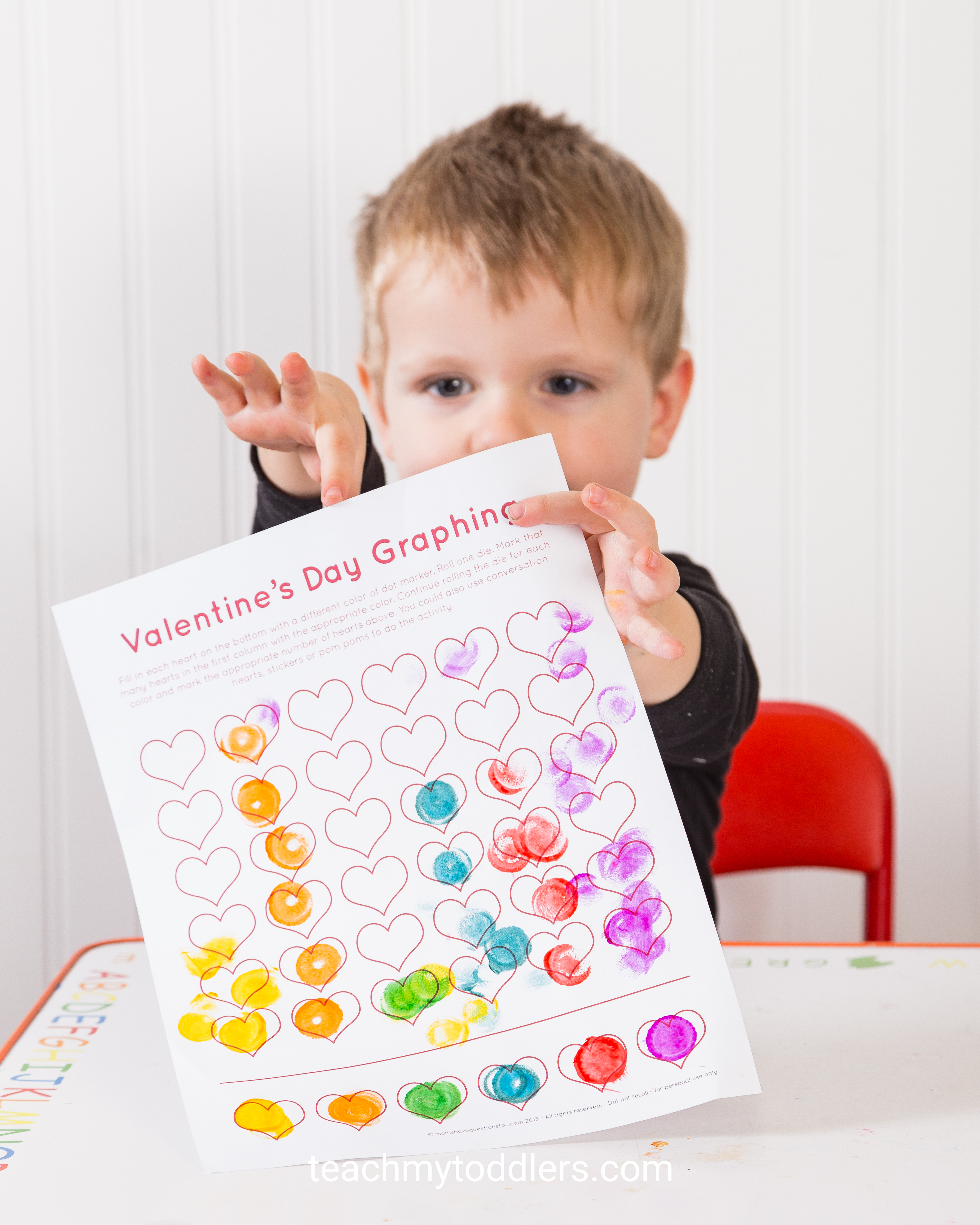 Learn how to use this valentine's day graph to teach your toddlers math skills