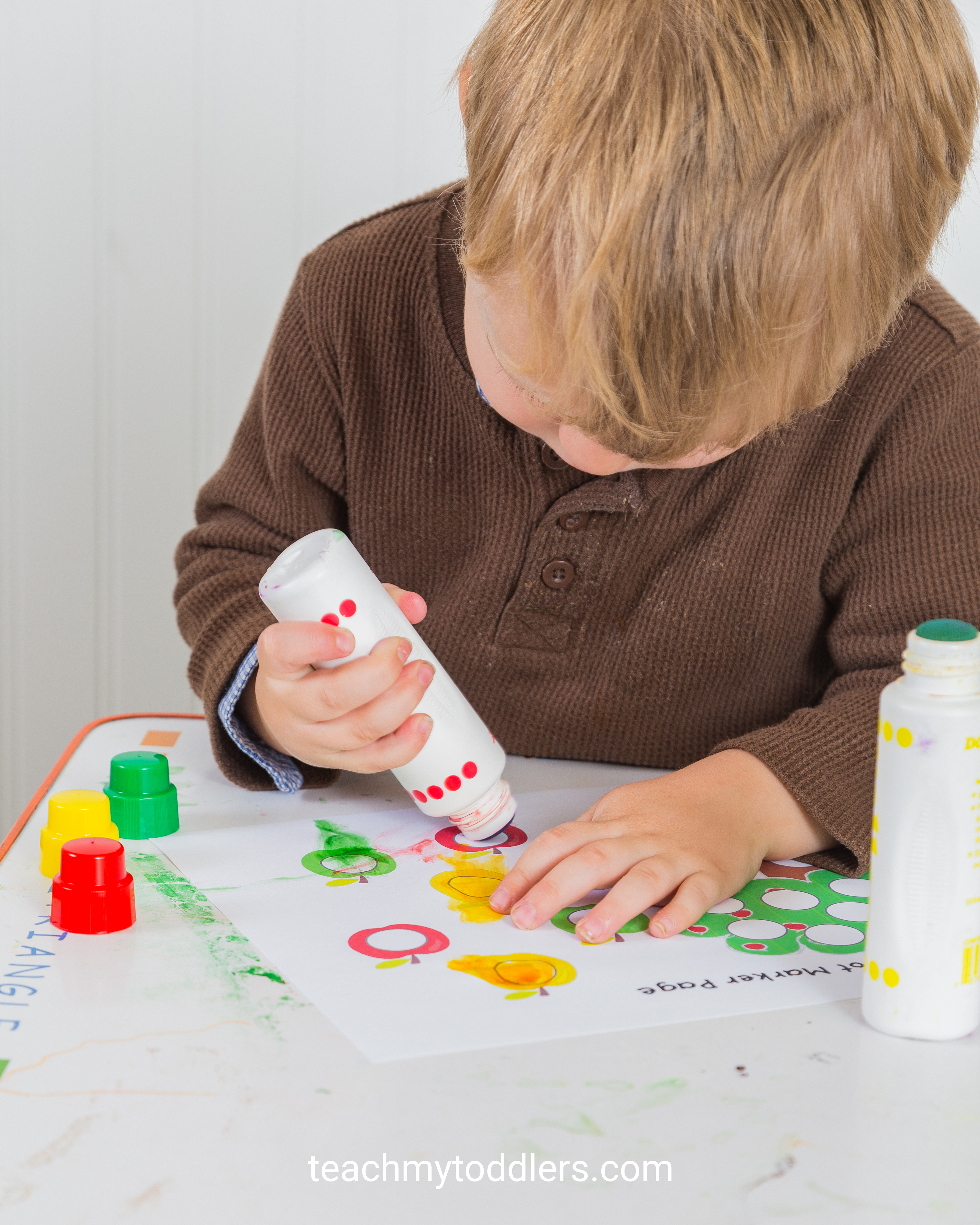 Teach your toddlers that the letter a is for apples with these fun activities
