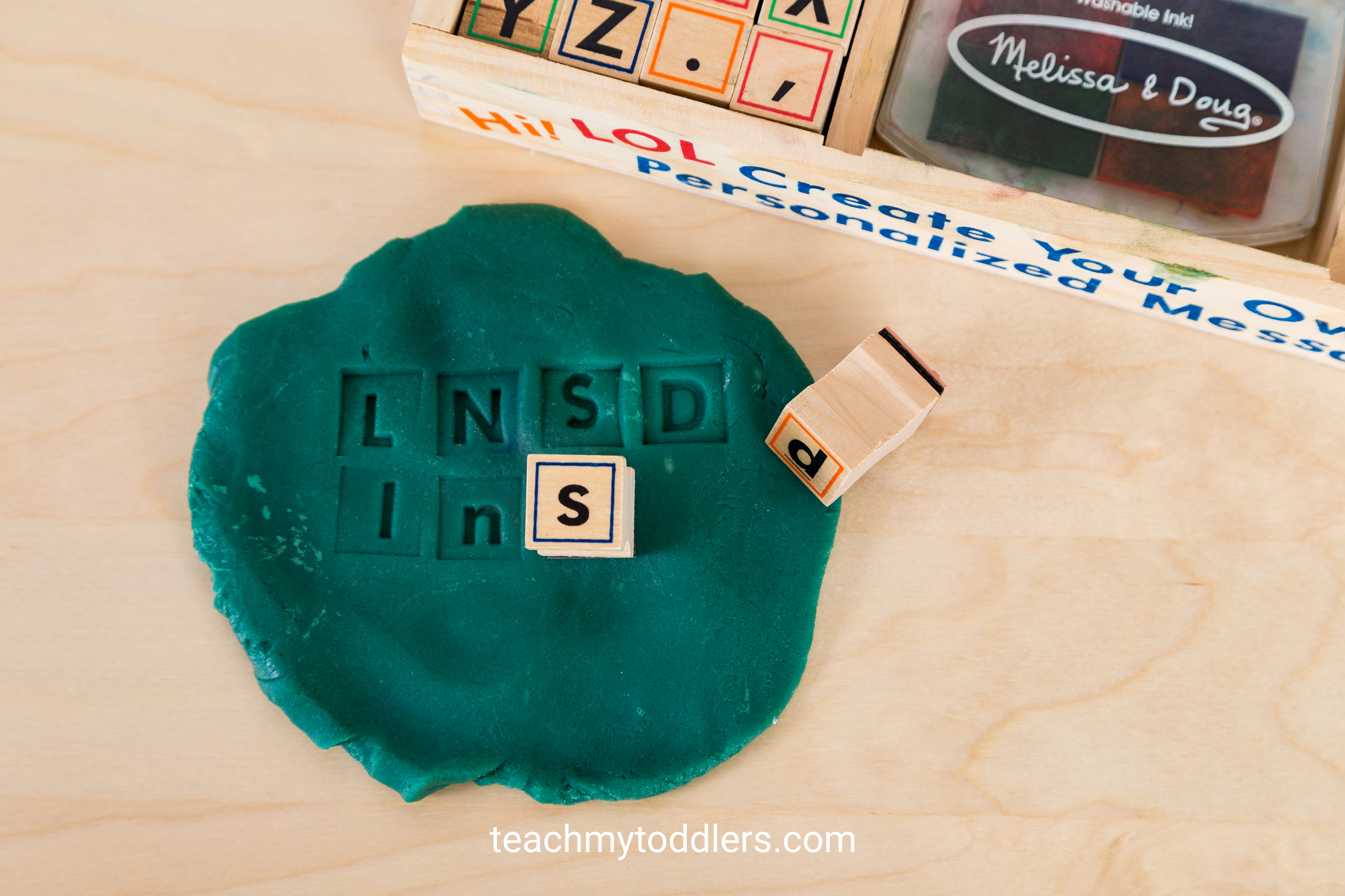 These alphabet stamps are a fun way to teach your toddlers letters