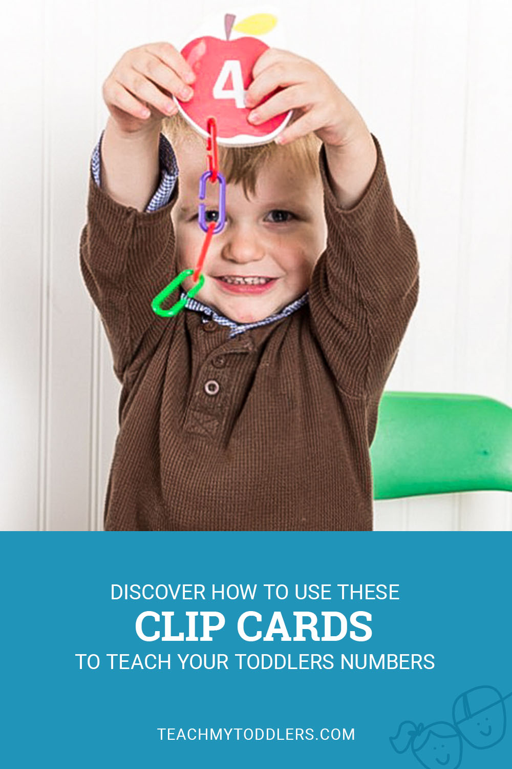 Discover how to use these clip cards to teach toddlers numbers