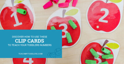 Discover how to use these clip cards to teach your toddlers numbers