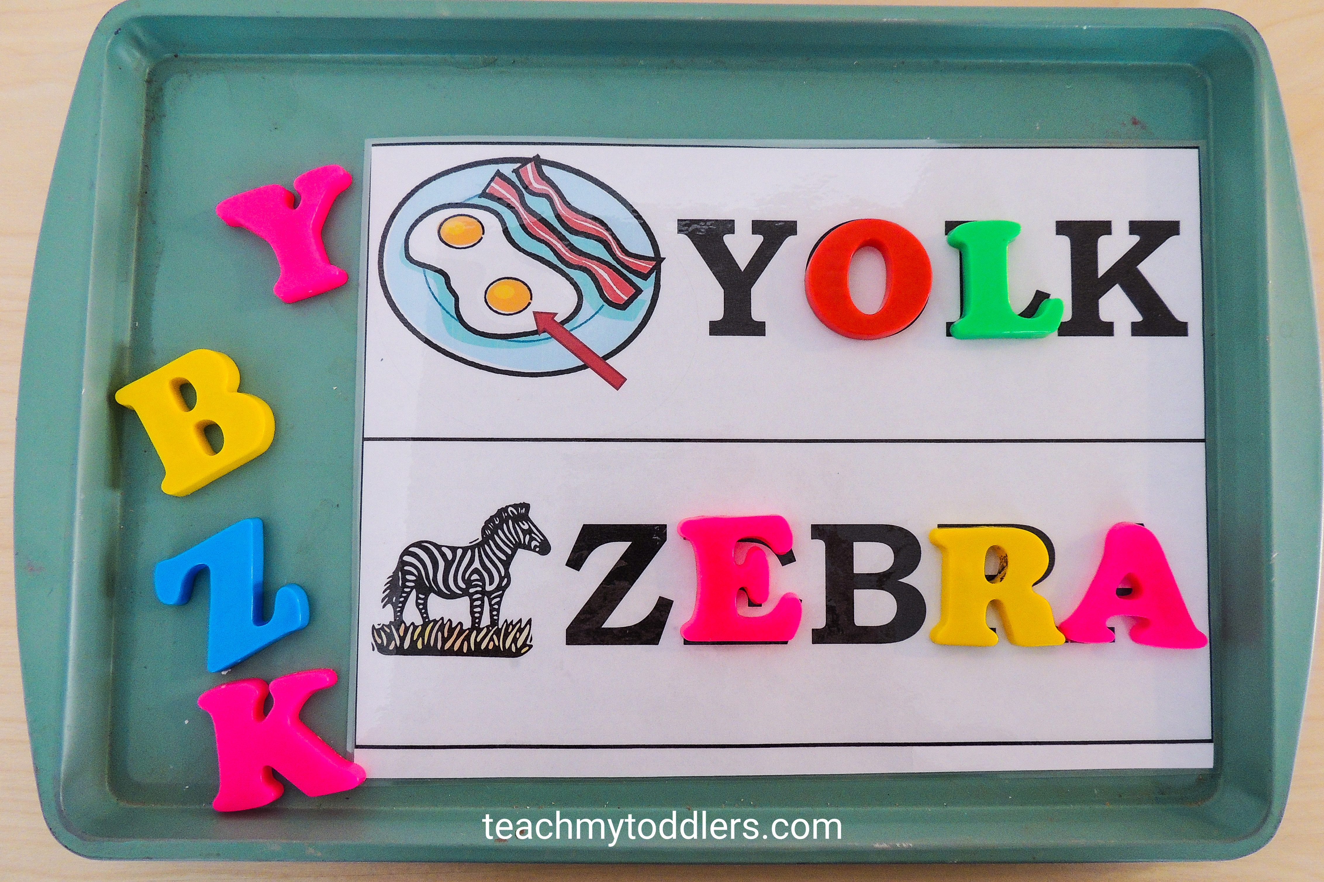 Discover how to use this magnetic match game to teach toddlers letters