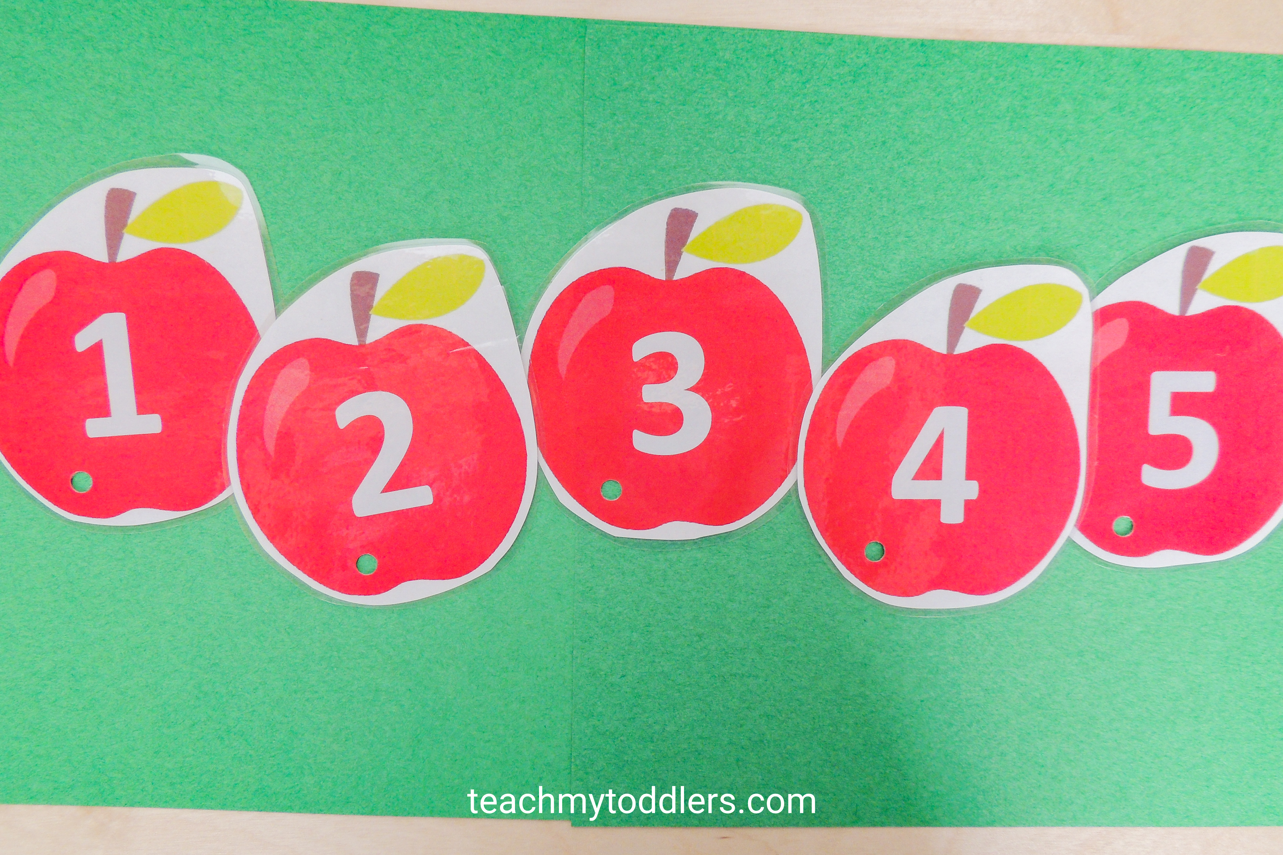 Learn how to use these clip cards to teach toddlers numbers