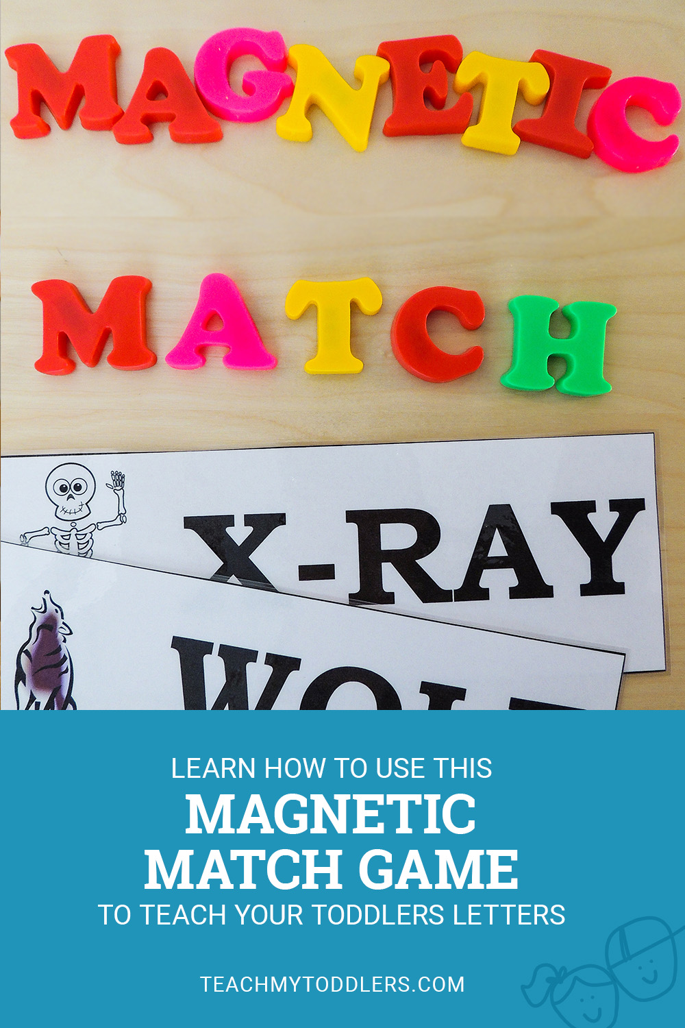 Learn how to use this magnetic match game to teach toddlers letters