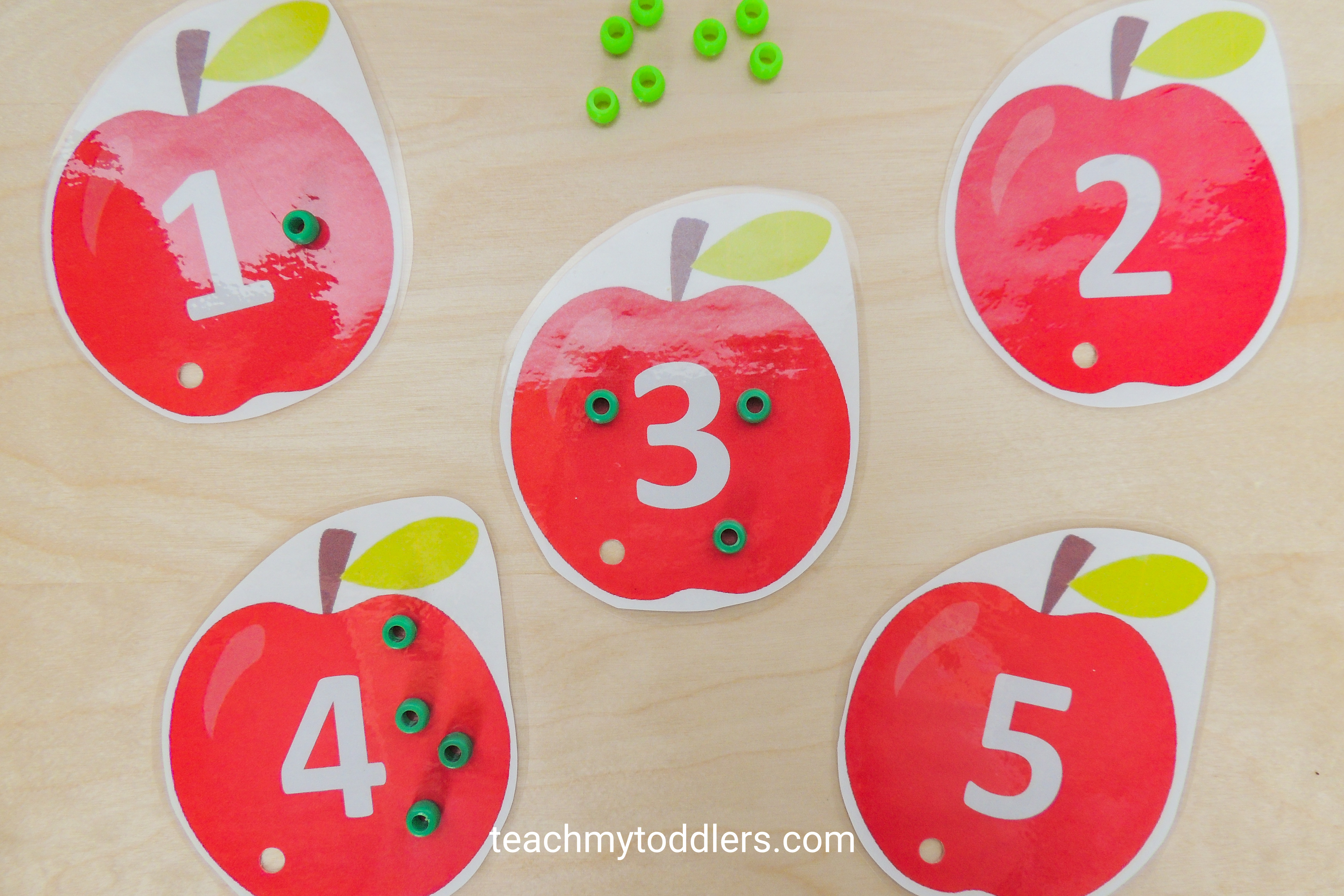 Use these fun clip cards to teach your toddlers numbers