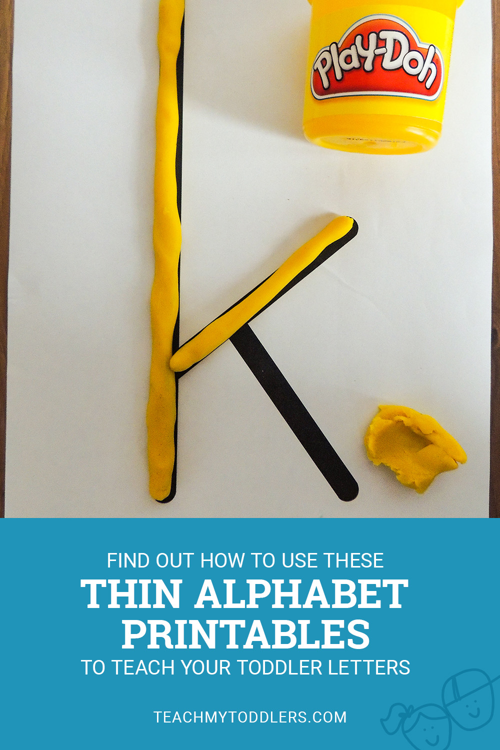 Find out how to use these thin alphabet printables to teach toddlers letters