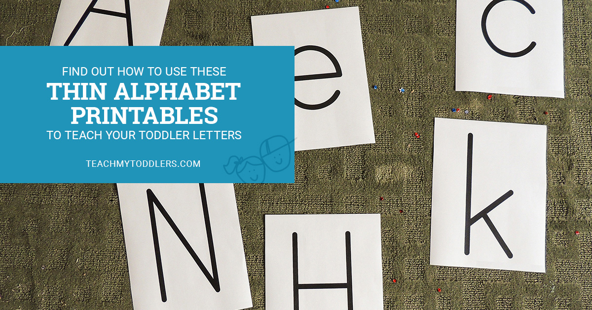 Find out how to use these thin alphabet printables to teach your toddlers letters