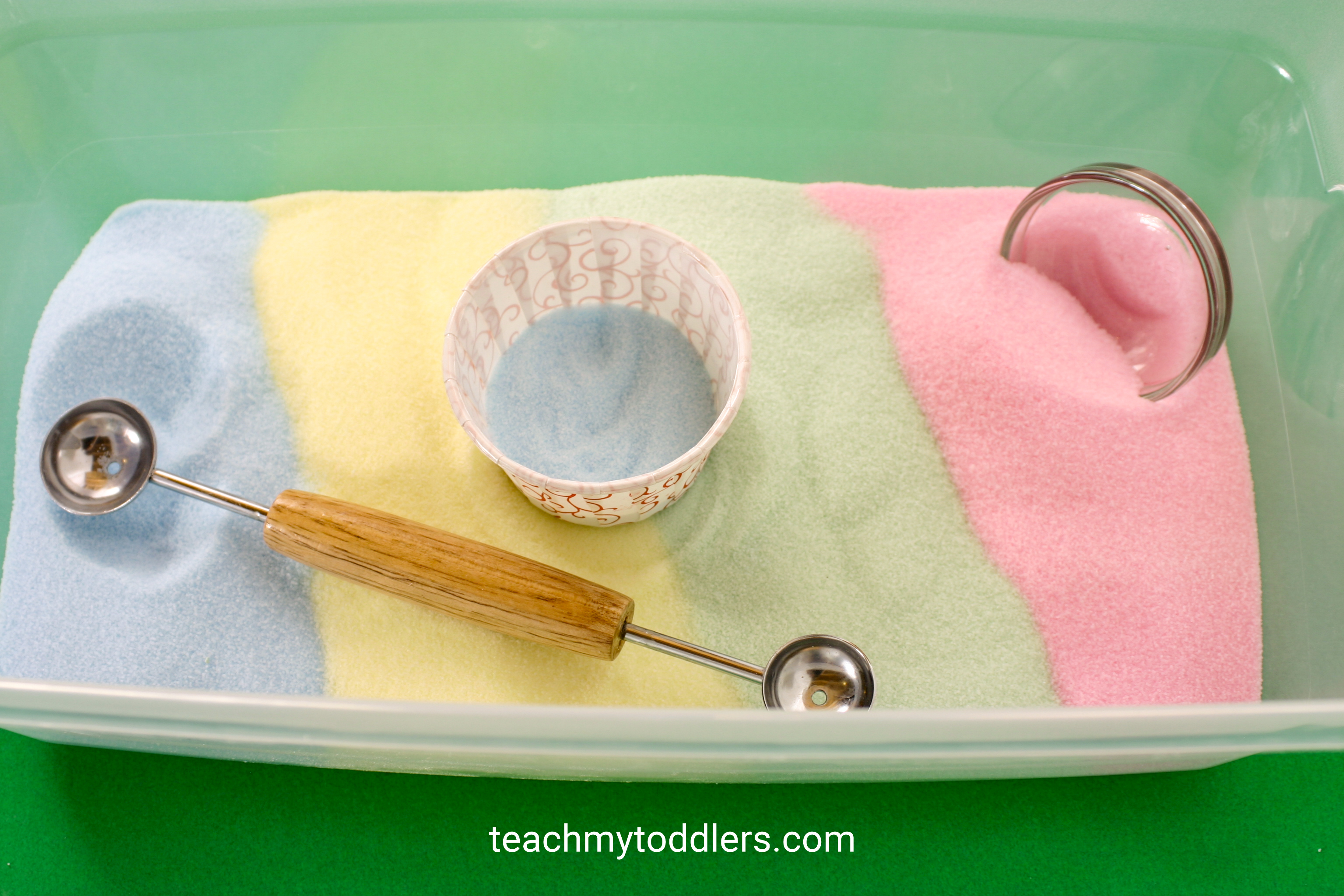 Discover how to make fun diy colored salt for your teach my toddler projects