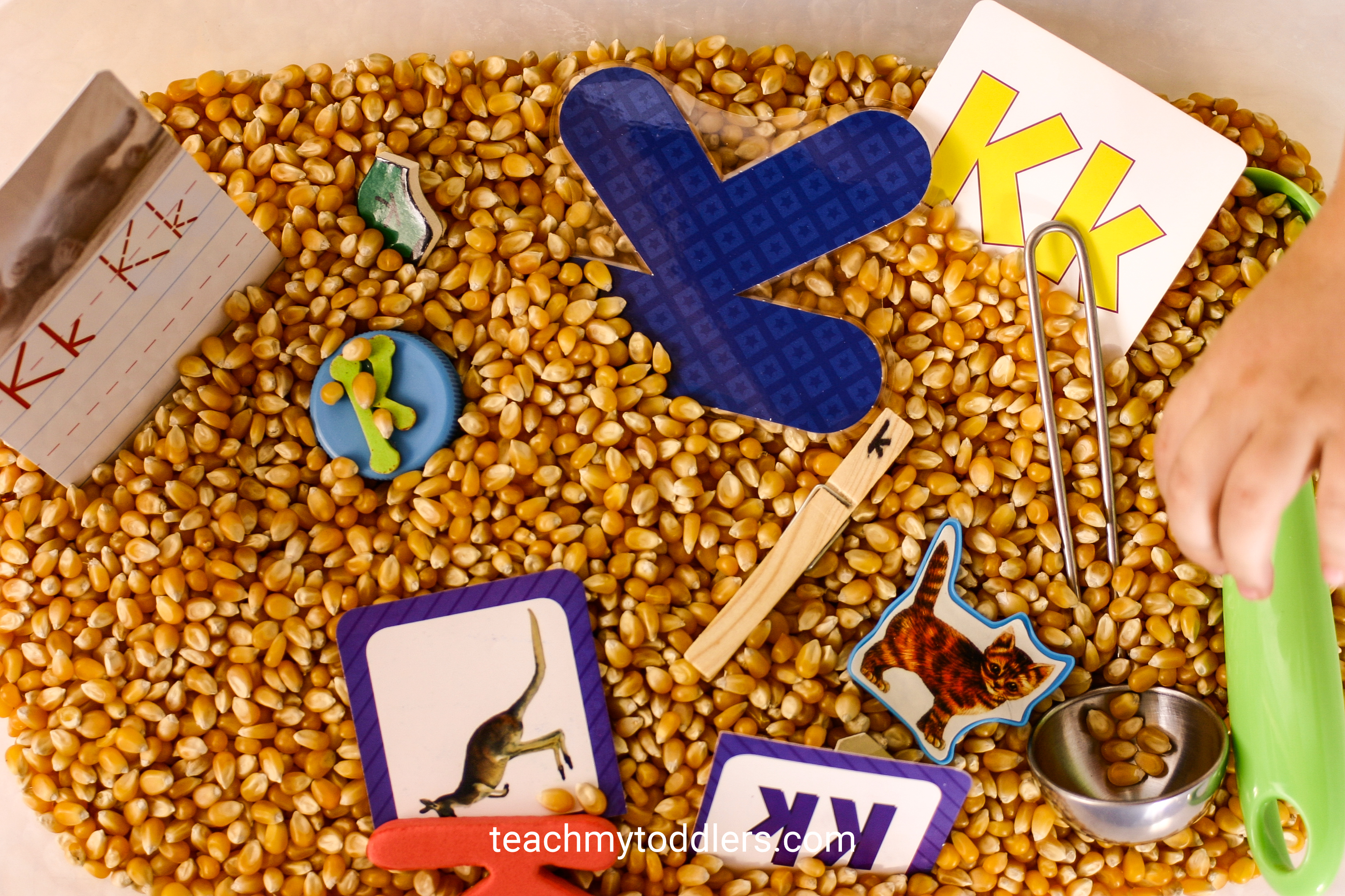 Discover how to use these kitchen activities to teach toddlers the letter k