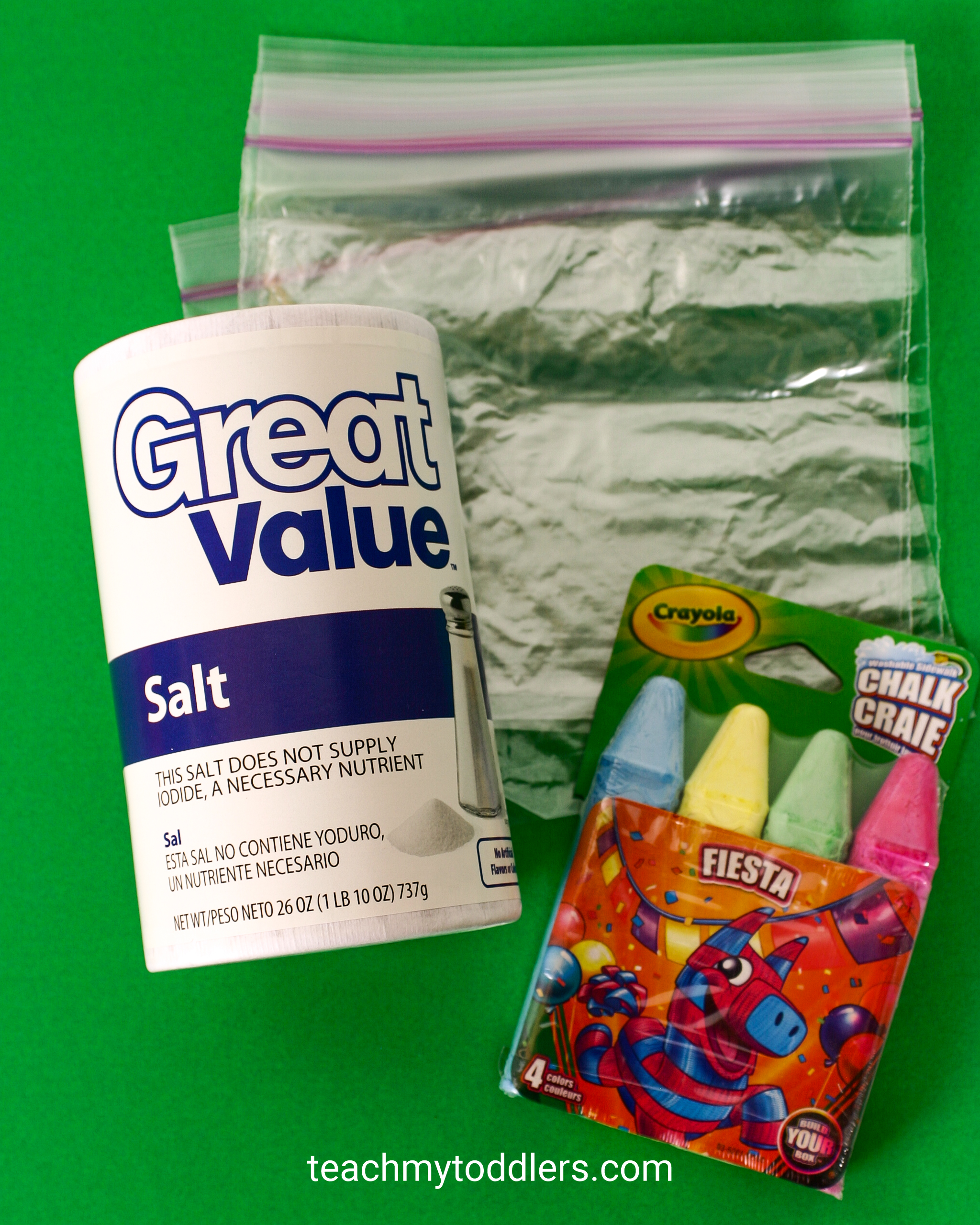 Find out how to make diy colored salt for your teach my toddler projects