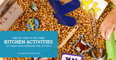 Find out how to use these kitchen activities to teach your toddlers the letter k