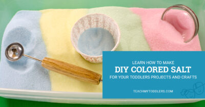Learn how to make diy colored salt for your teach my toddler projects