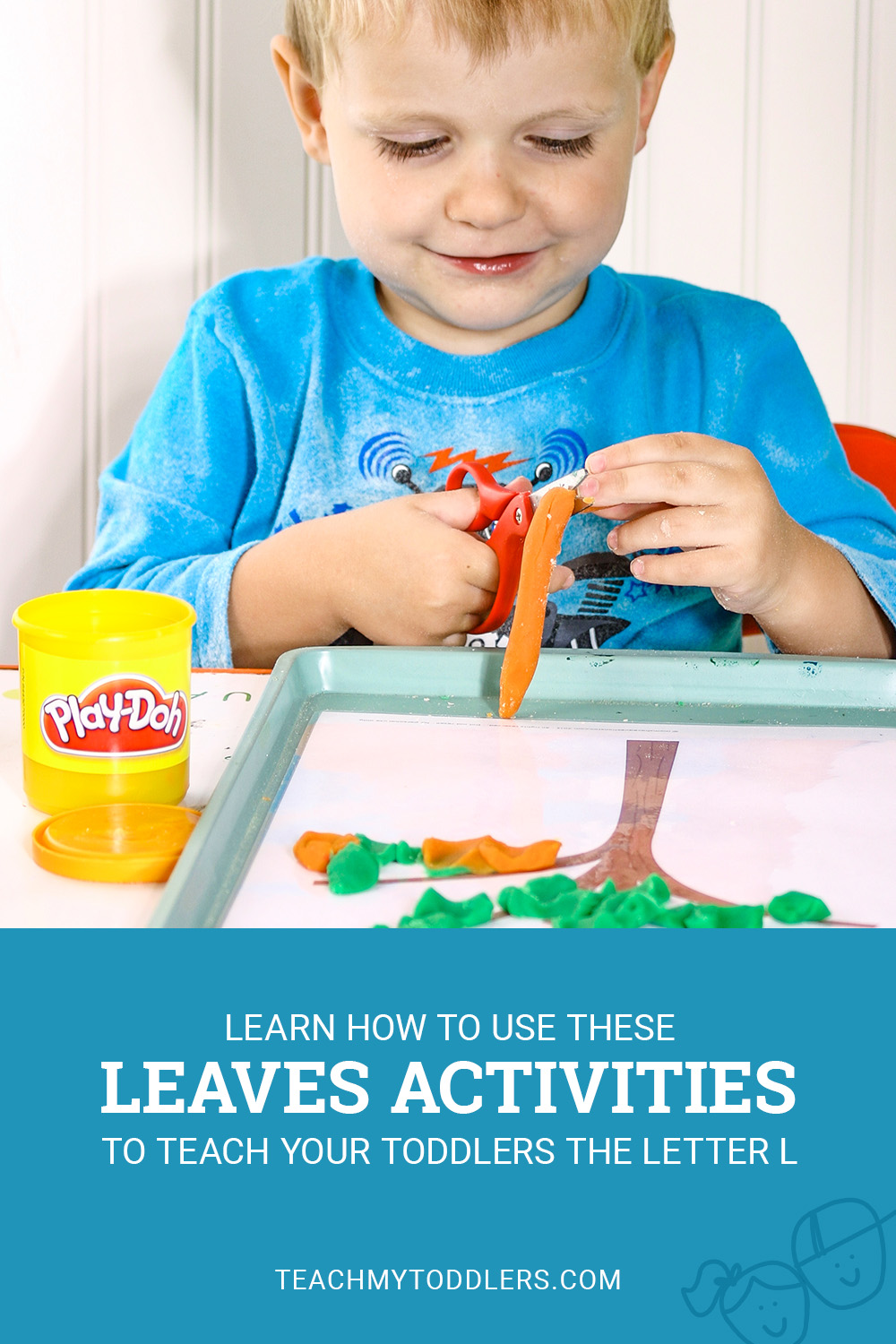 Learn how to use these leaves activities to teach toddlers the letter l