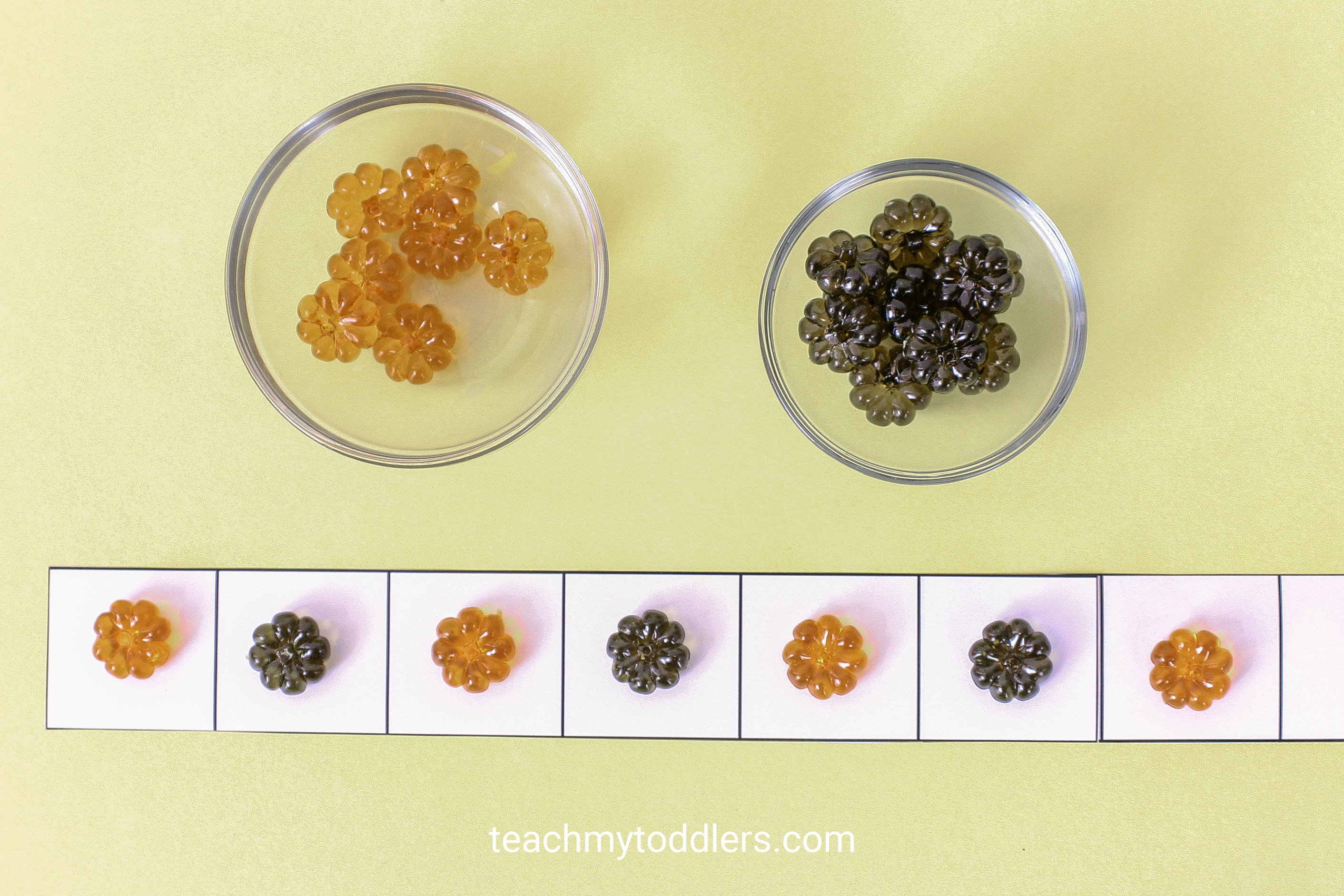Discover how to use these table scatter activities to teach toddlers math