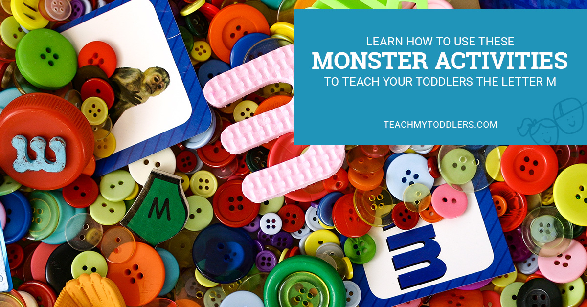 Learn how to use these monster activities to teach toddlers the letter m