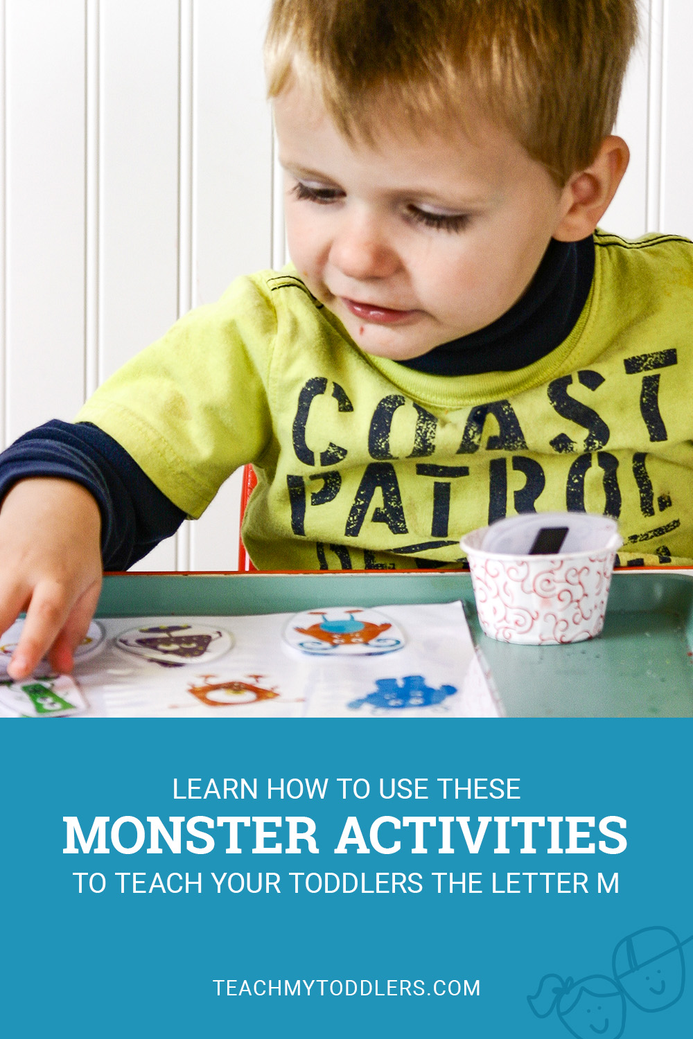 Learn how to use these monster activities to teach your toddlers the letter m