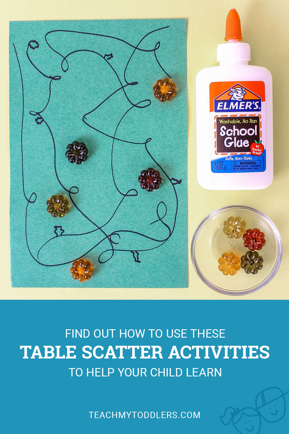 Learn how to use these table scatter activities to teach toddlers math