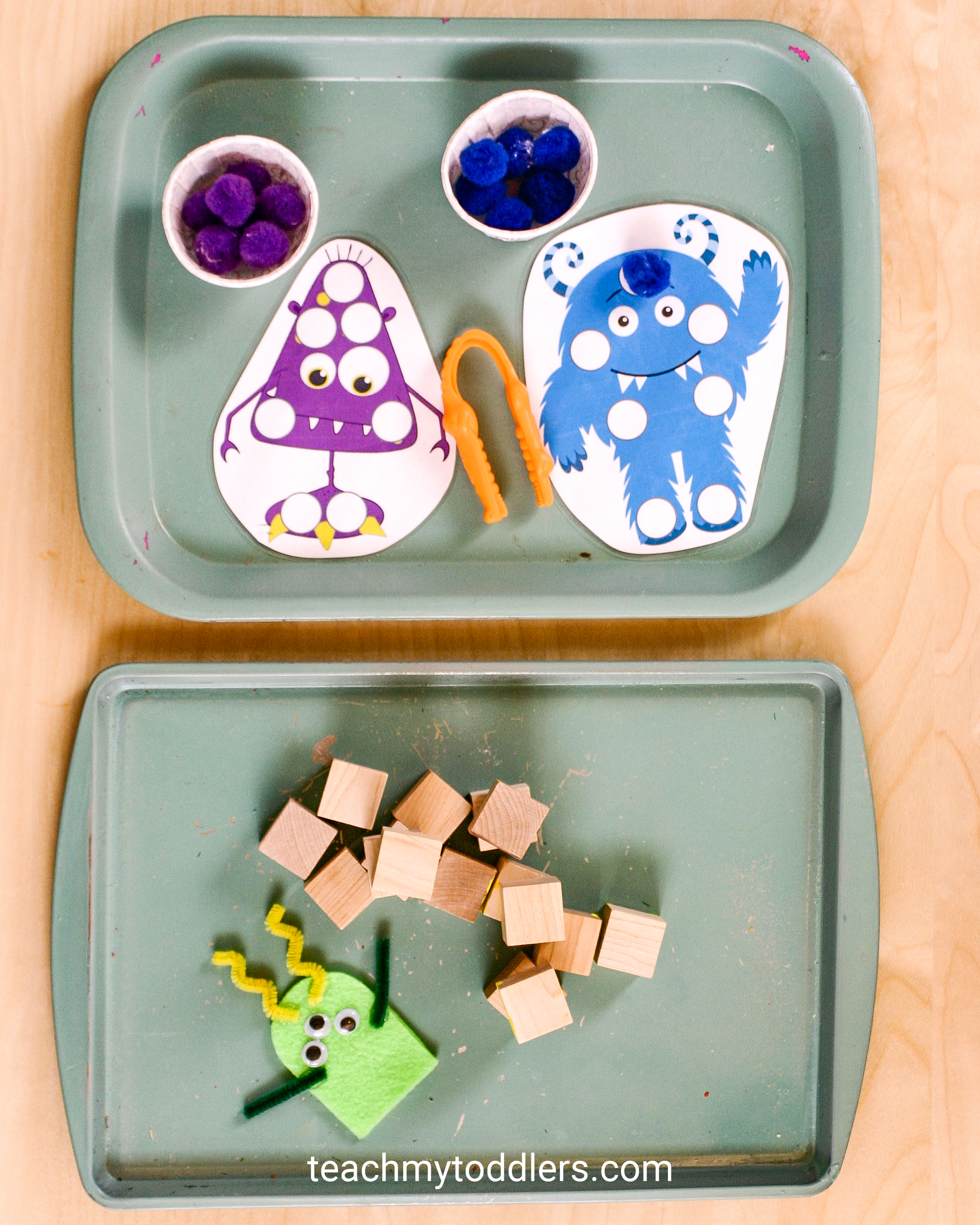 Use these great monster activities to teach toddlers the letter m