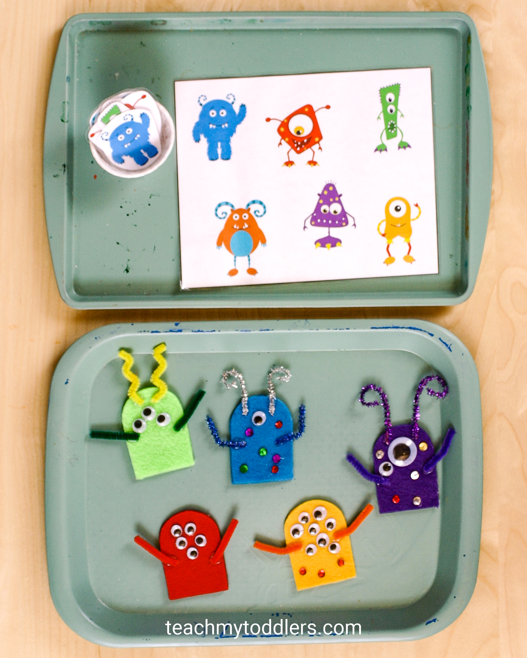 Use these great monster activities to teach your toddlers the letter m