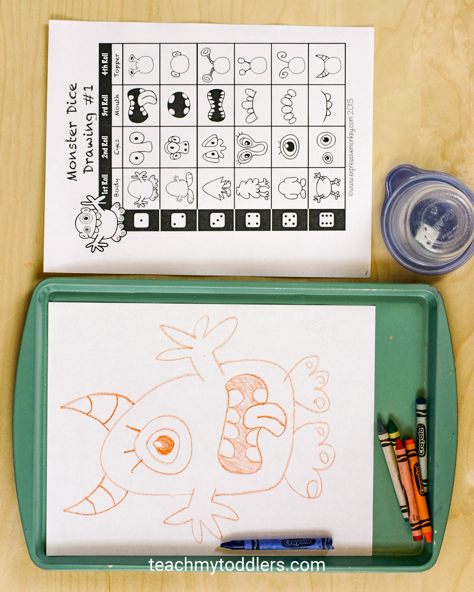 Use these interesting monster activities to teach your toddlers the letter m