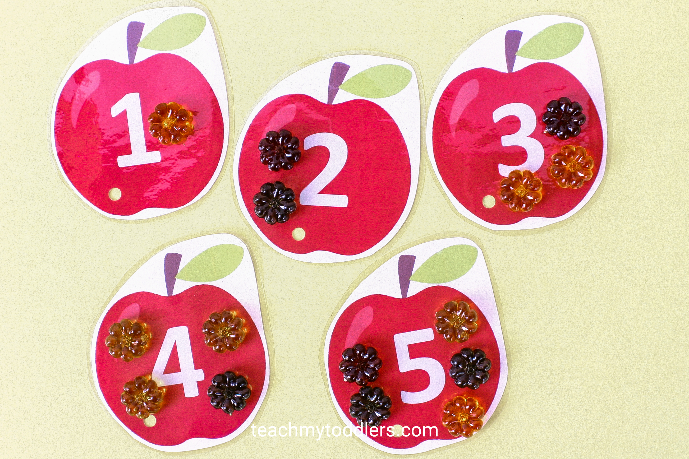 Use these unique table scatter activities to teach toddlers math
