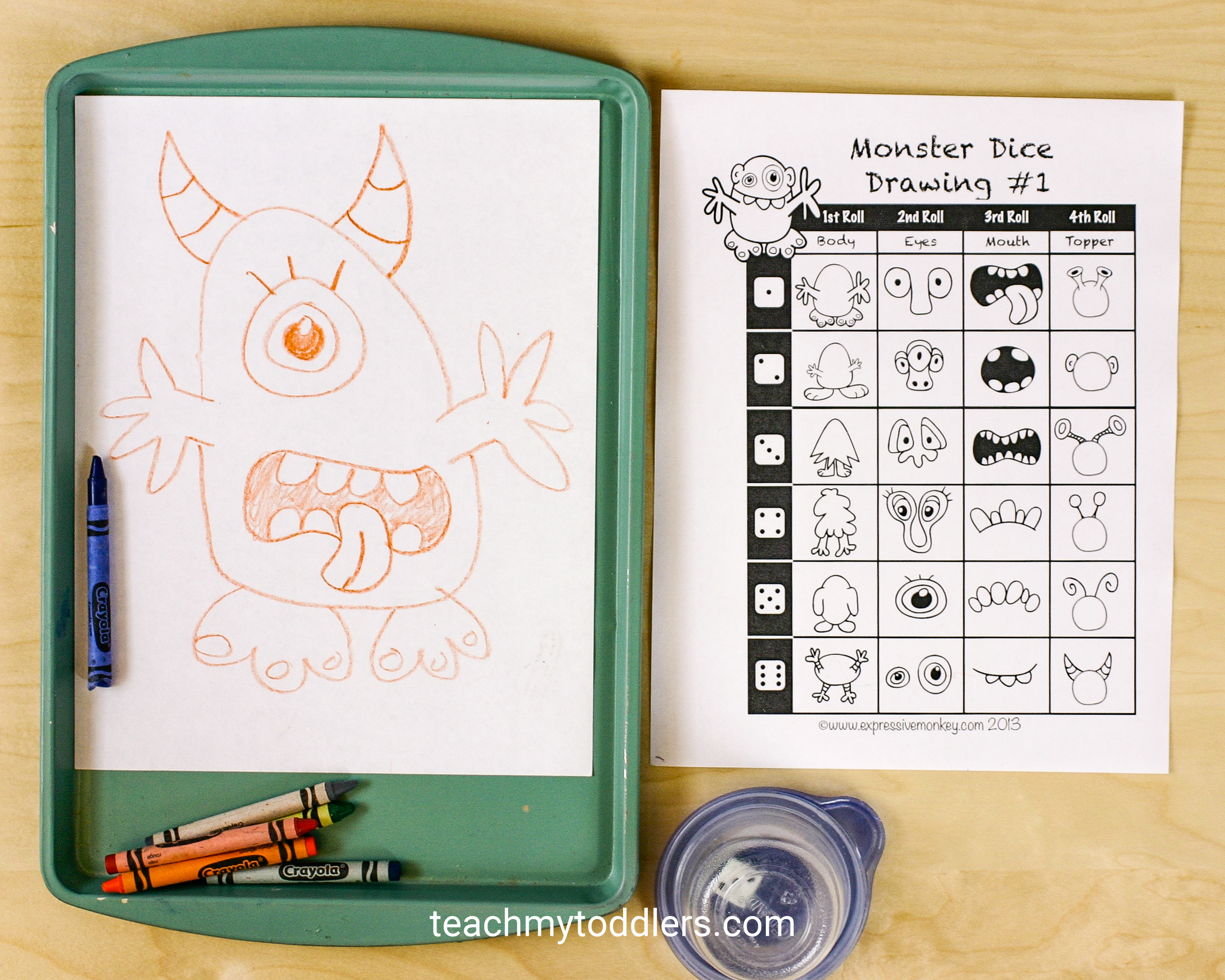 Use these way fun monster activities to teach toddlers the letter m