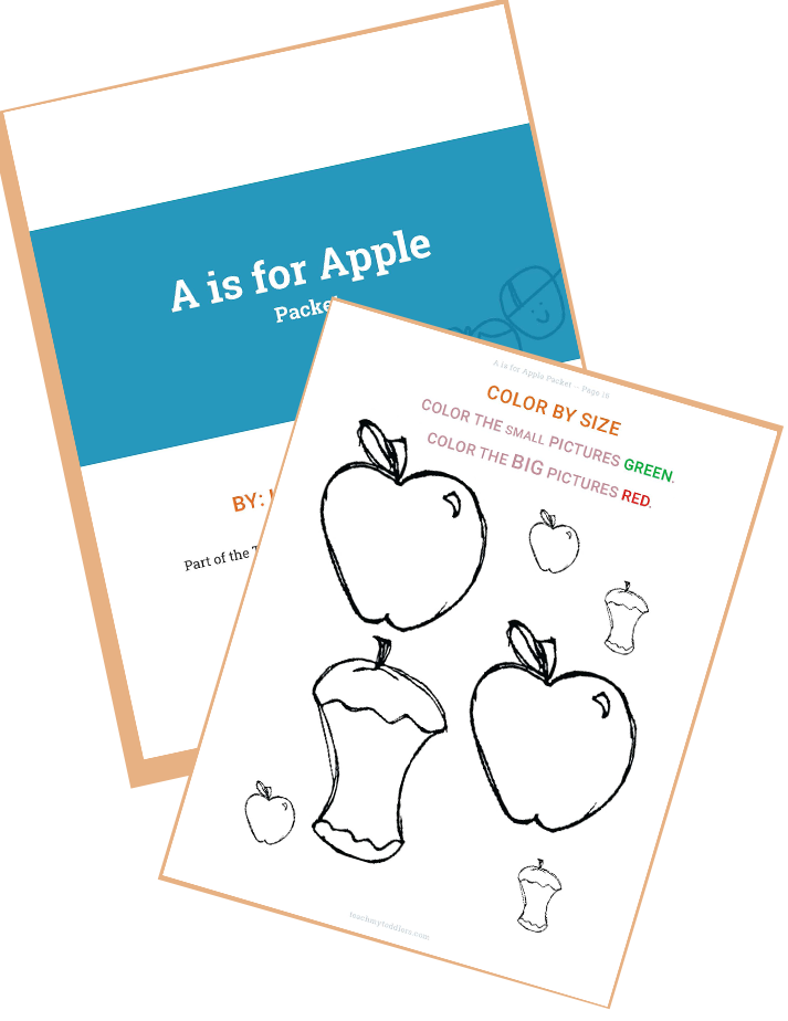 Letter A Packet Tot School Curriculum for Teach My Toddlers