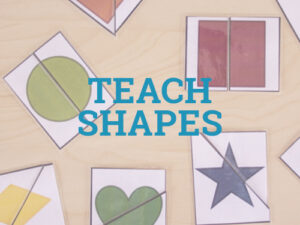 Teach shapes to your toddler with these fun activities