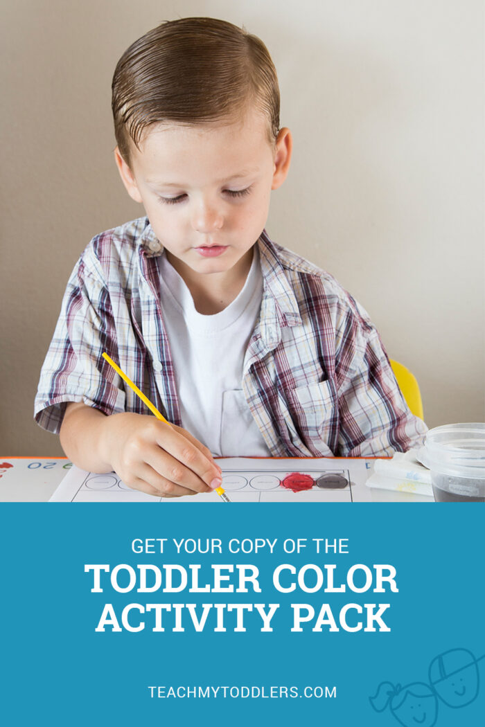 This watercolor activity is a bonus activity of the toddler color activity pack
