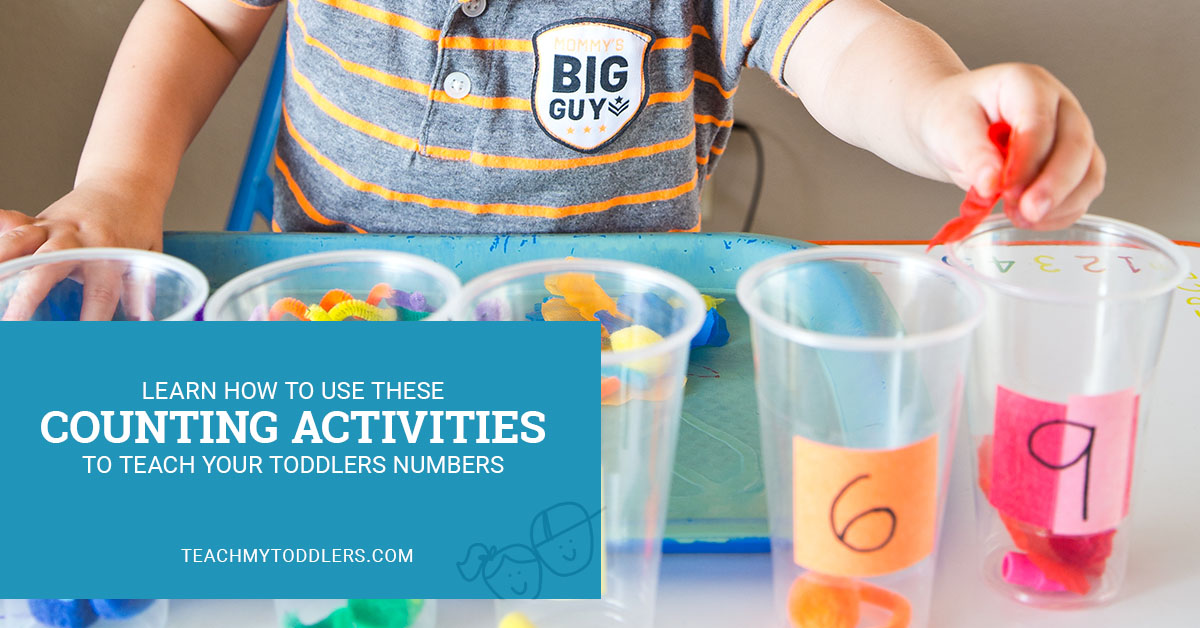 Learn how to use these counting activities to teach your toddlers numbers